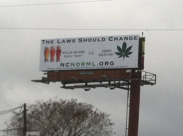 NC NORML Billboard - photo