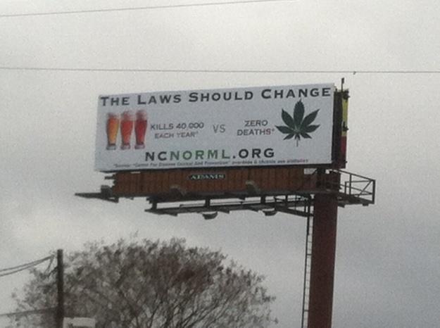NC NORML Billboard - photo